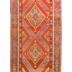 "Antique East Turkestan Khotan 6'10""×13'7"""