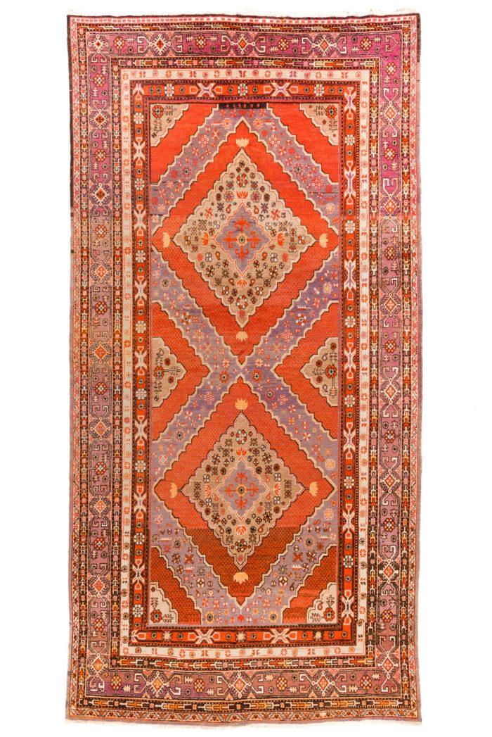 "Antique East Turkestan Khotan 6'10""×13'7"""