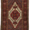 "Antique Feraghan Sarouk Rug Hand-Knotted Wool 4'0""×5'7"""