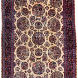 "Antique Fine Persian Kashan 10'2""×15'5"""