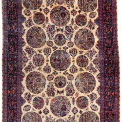 "Antique Fine Persian Kashan 10'2""×15'5"""