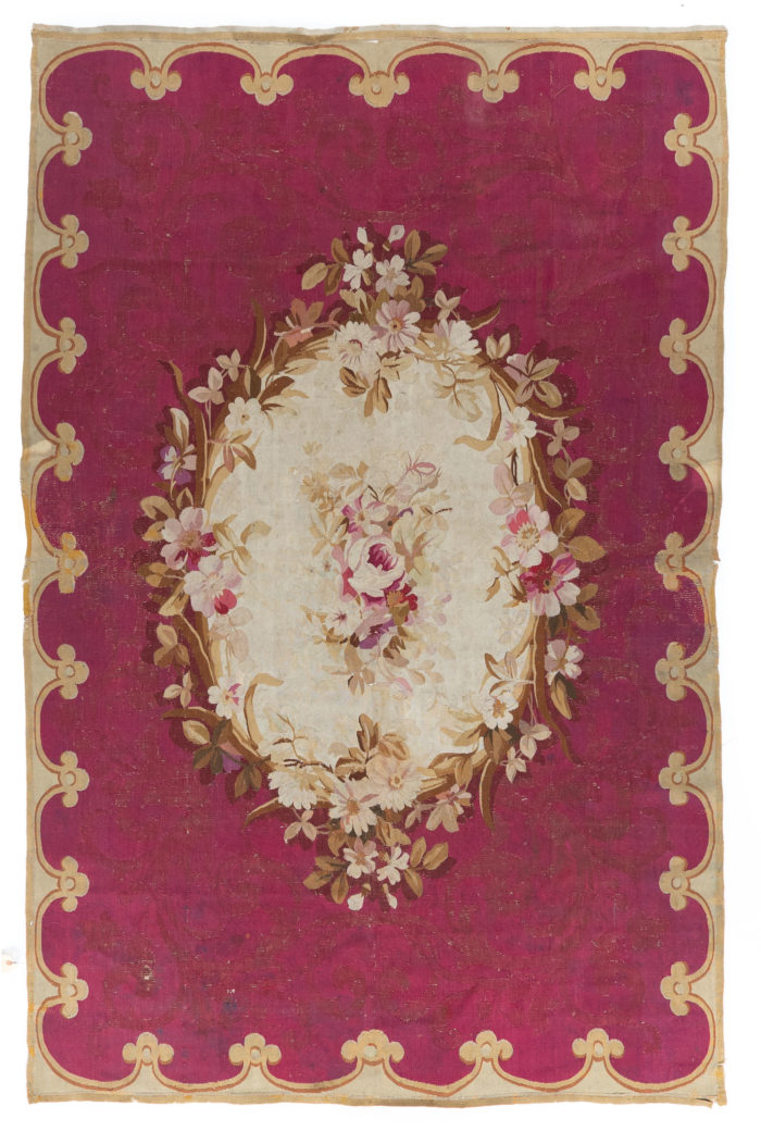 "Antique French Aubusson 5'5""×8'8"""