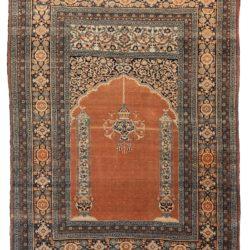 """Antique Hadji Jalili Persian Tabriz Rug 4'5""""×5'11"""""""