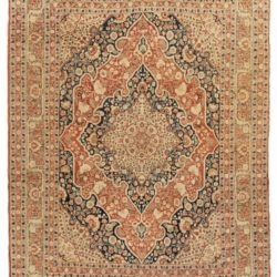 "Antique Haji Jalili Tabriz Persian Area Rug 4'3""×5'9"""