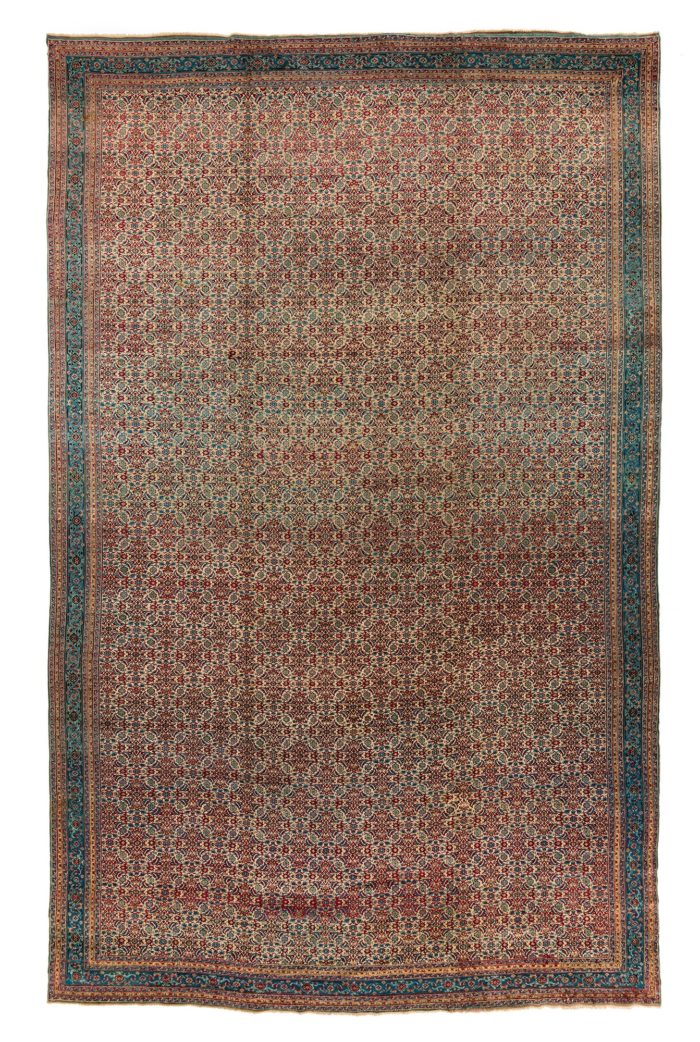 "Antique Indian Agra 11'10""×18'8"""