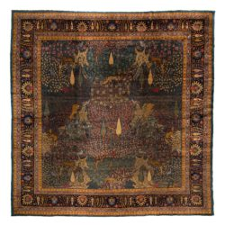 "Antique Indian Agra 11'11""×11'11"""