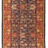 "Antique Indian Agra Rug 4'3""×6'6"""