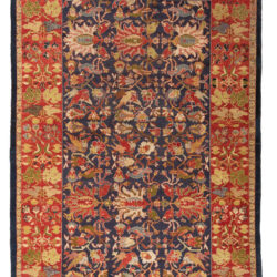 "Antique Indian Agra Rug 4'3""×6'6"""