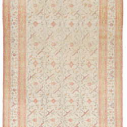 "Antique Indian Agra Transitional Wool Rug 7'7""×12'0"""
