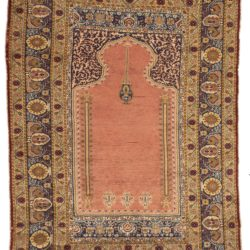 "Antique Kayseri Rug 4'3""×6'3"""