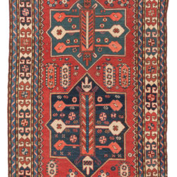 "Antique Kazak Caucasus Tribal Area Rug 4'0""×6'6"""