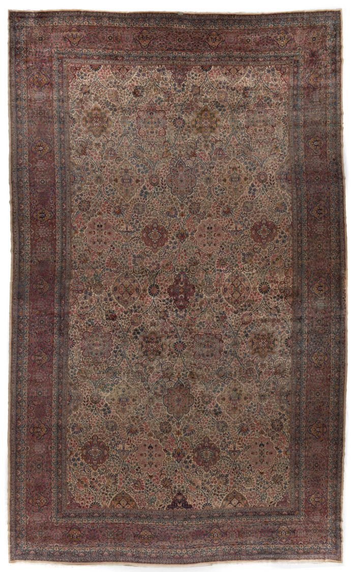 "Antique Kerman Rug 18'10""×30'7"""