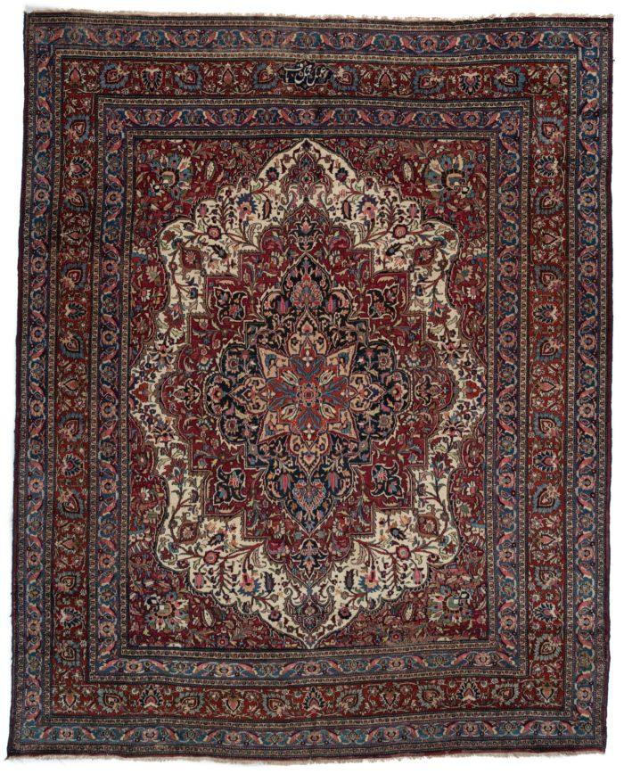 "Antique Khorasan Rug 10'0""×12'5"""
