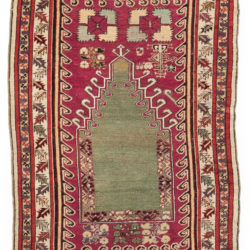 "Antique Kirshehir Prayer Rug 3'10""×5'7"""