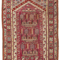 "Antique Kirsheir Prayer Rug 3'6""×5'1"""