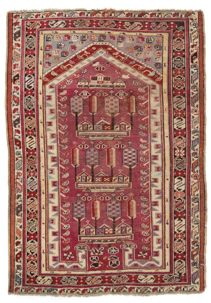 "Antique Kirsheir Prayer Rug 3'6""×5'1"""