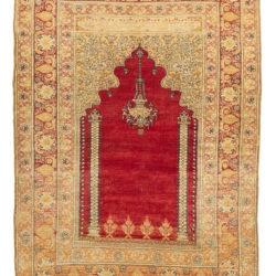 "Antique Konia Prayer Rug 4'0""×5'6"""