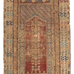"Antique Konia Prayer Rug 3'7""×5'6"""