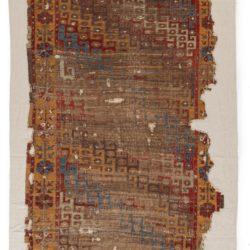 """Antique Konya Rug Preserved on Canvas 4'1""""×7'10"""""""
