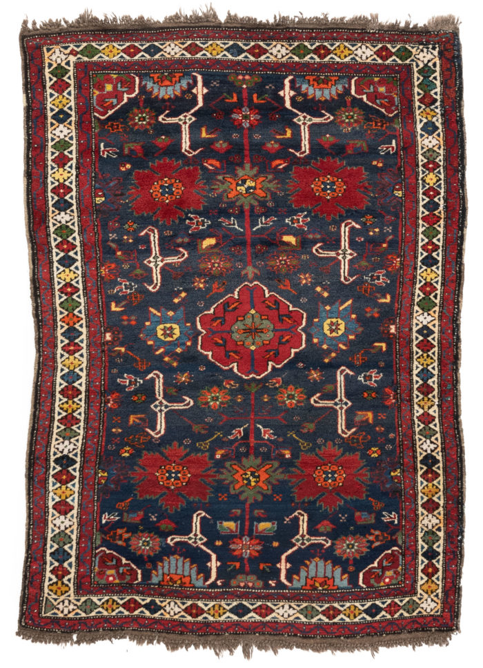 "Antique Kuba Rug 3'11""×5'7"""