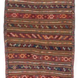 "Antique Kurdish Flatweave Runner 5'0""×11'10"""
