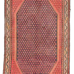 "Antique Kurdish Kilim 5'0""×9'7"""