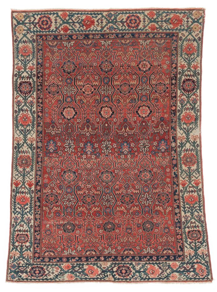 "Antique Malayer Rug 4'4""×6'2"""