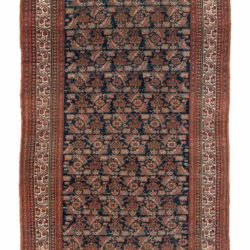 "Antique Malayer Rug 5'0""×11'2"""