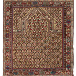 "Antique Maraseli Caucasus Prayer Rug 4'5""×4'11"""