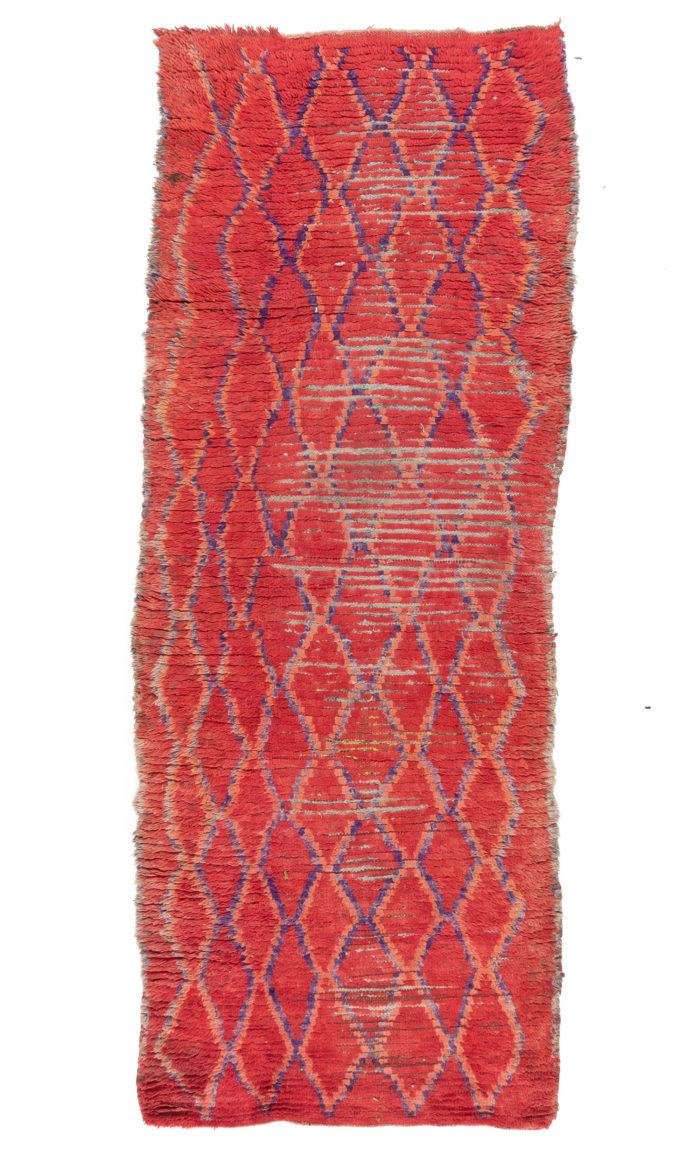 """Antique Moroccan Rug 3'7""""×9'3"""""""