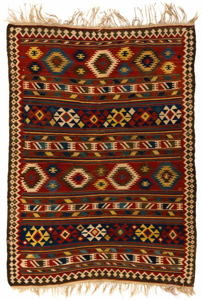 "Antique Northwest Persian Kilim 5'6""×7'5"""