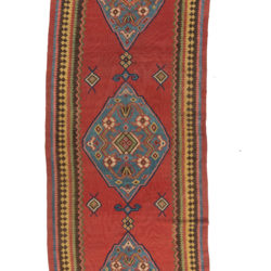 "Antique Northwest Persian Kilim 4'7""×17'0"""