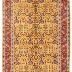 "Antique Oushak Rug 4'10""×8'0"""