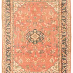 "Antique Oushak Rug 7'1""×9'6"""