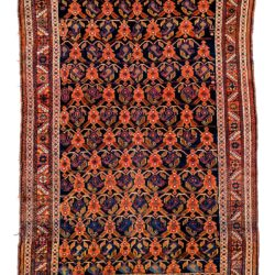 "Antique Persian Afshar 4'1""×6'0"""