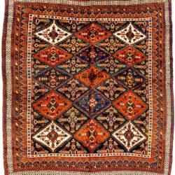 "Antique Persian Afshar 5'4""×6'2"""