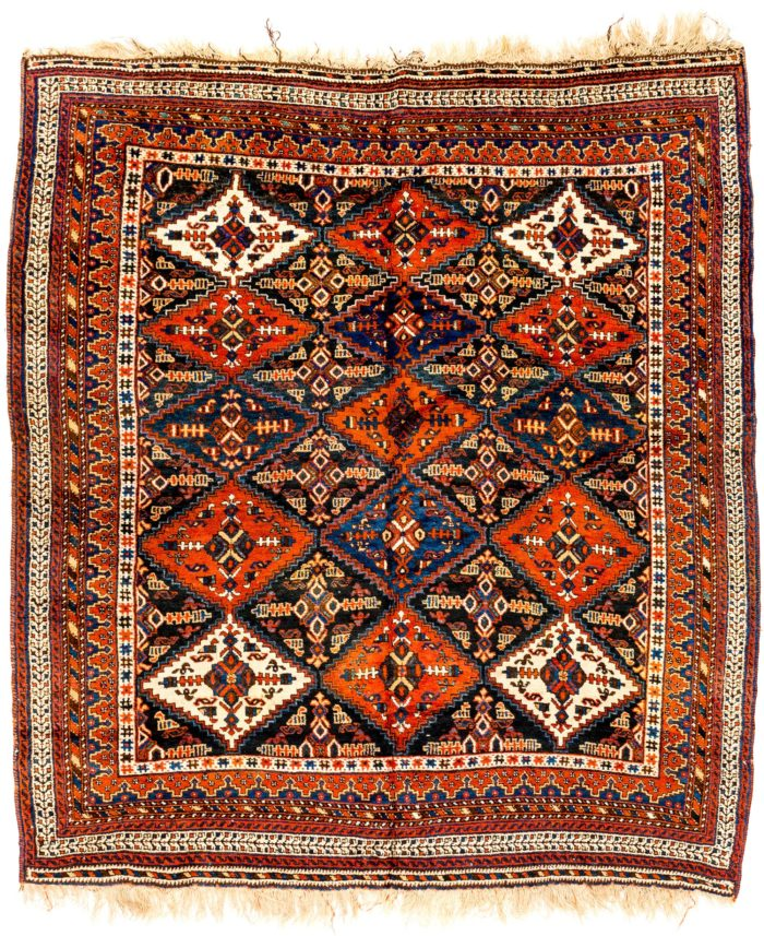 "Antique Persian Afshar 5'4""×6'2"""
