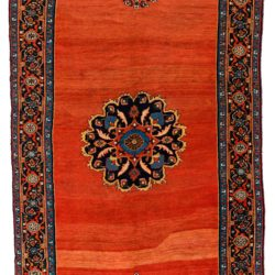 "Antique Persian Afshar 6'7""×13'1"""
