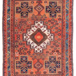 "Antique Persian Afshar 5'0""×6'5"""