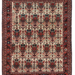 "Antique Persian Afshar Wool Rug 3'6""×4'8"""