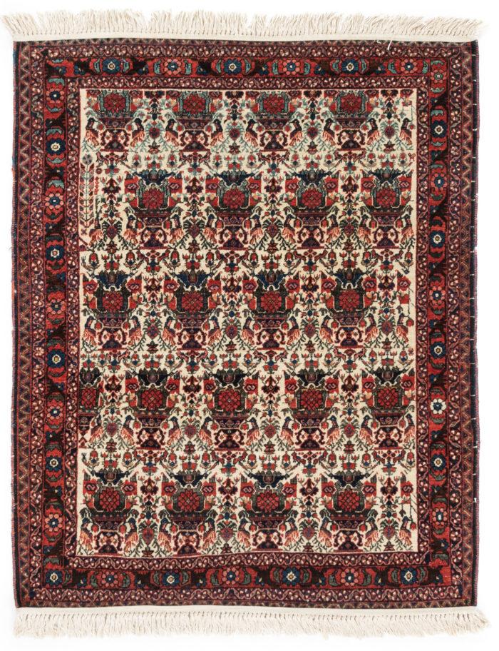 "Antique Persian Afshar Wool Rug 3'6""×4'8"""