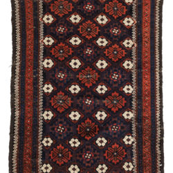 "Antique Persian All-Over Floral Pattern Tribal Belouchi Rug 3'0""×4'1"""