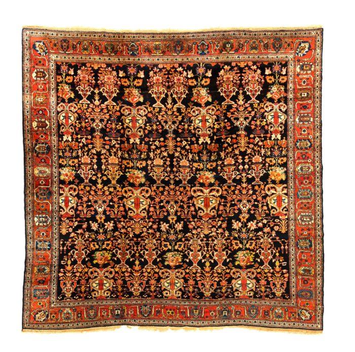 "Antique Persian Bakhtiari 10'5""×10'6"""
