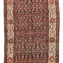 "Antique Persian Bakhtiari Herati 6'1""×12'0"""