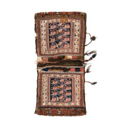 "Antique Persian Bakhtiari Saddle Bags 1'10""×3'9"""