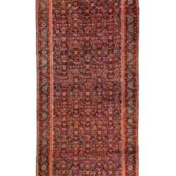 "Antique Persian Bakshaish 7'2""×17'4"""