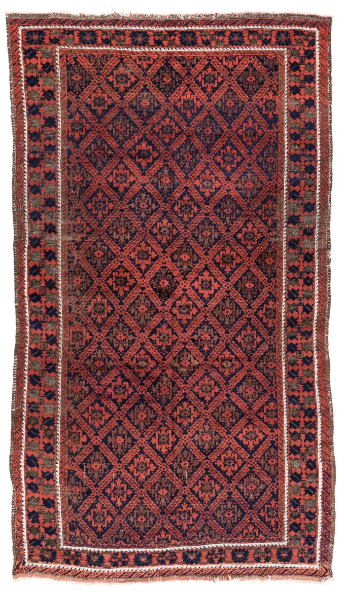 "Antique Persian Balouch 5'6""×9'7"""