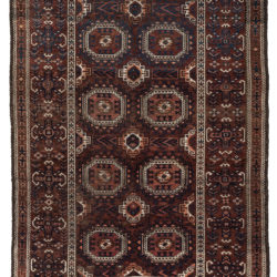 "Antique Persian Belouchi Rug 5'5""×8'8"""