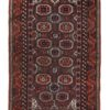 "Antique Persian Belouchi Tribal Rug 3'6""×5'8"""