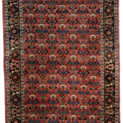 "Antique Persian Bibikabad 4'4""×6'2"""